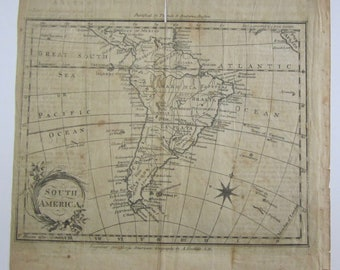 Original 1790's South America Map By Amos Doolittle For Morse's American Geography By Thomas & Andrews Boston 1:67,500,000 Scale