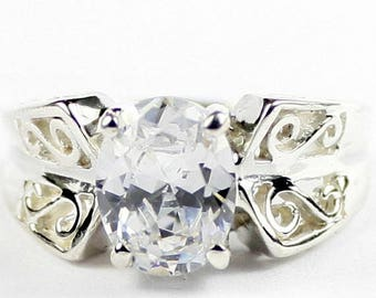 On Sale, 30% Off, Cubic Zirconia, 925 Sterling Silver Ring, SR281