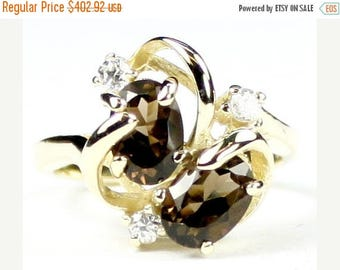 On Sale, 30% Off, Smoky Quartz, 14Ky Gold Ring R016