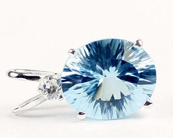 On Sale, 30% Off, Swiss Blue Topaz (Quantum Cut), 925 Sterling Silver Pendant, SP022