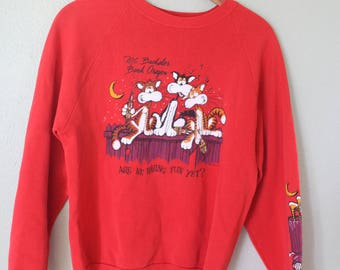 vintage Mt bachelor bend oregon red cats sweatshirt
