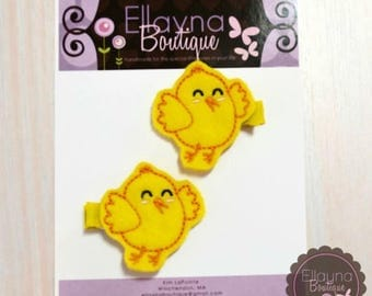 Felt Hair or Planner Clips - Chicks, Easter