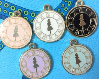 Large Alice in Wonderland Charms/Pendants- 4 colors- set of 4