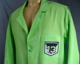 MST3K Dr Forrester Deep 13 Gizmonic Green Lab Coat -Mystery Science Theater 3000