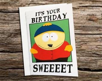 Cartman birthday card