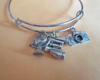 World Traveler Adjustable Bracelet