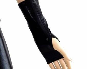 Black Mystique Spandex Fingerless Gloves Performance Cosplay 154553