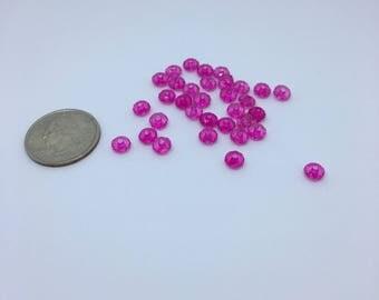 Pink acrylic beads