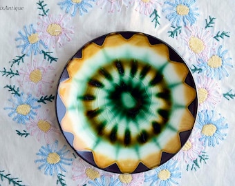Vintage Portmadoc Wales Art Pottery Small Oval Pin Dish/ Small Ceramic Saucer Collectible Retro Welsh Pottery Cottage Chic Farmhouse Decor