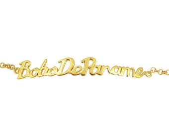 Writing Bobo de Paname vermeil bracelet