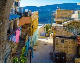 Israeli Alleyway, Digital Download, Photography, Wall Art, Tzfat, Digital Photography
