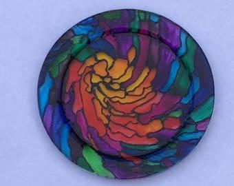Rainbow glass plates