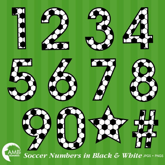 Soccer Number Clipart Football Clipart Sports Team Clipart World