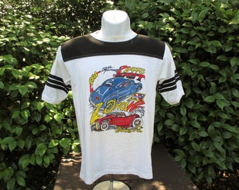1991 Street Rod Nationals East Football Jersey T Shirt by Dave Bell