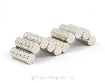 6mm x 3mm strong N35 neodymium round circular disk magnets ideal for Reborn Dolls GuysMagnets