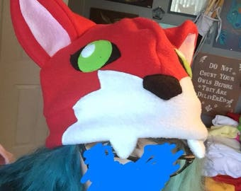 Red fox hat/tail