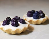 Faux Real Food For American Girl Dolls. Blackberry and Custard Tart