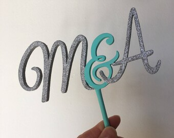 Cake topper initials for ceremonies and special events