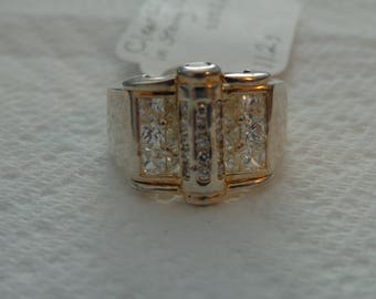 Men's Sterling Silver and CZ Ring size 10 1/4
