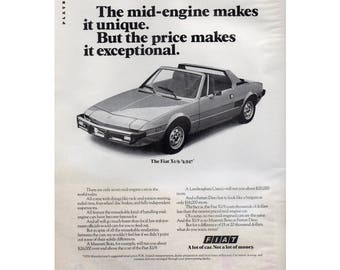 Vintage magazine poster advertisement for a 1976 Fiat  -  22