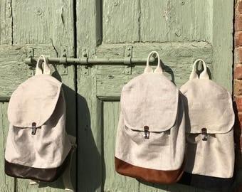 Linen Backpack