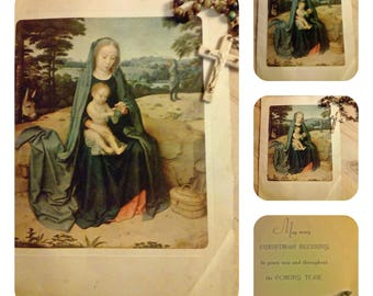 Vintage  A Rust Craft Religious Christmas Card Unused