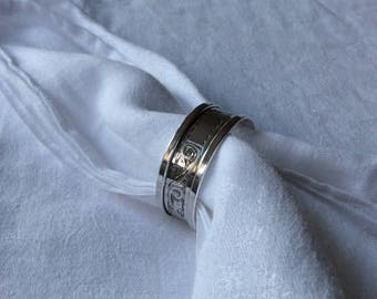 Napkin Ring English Sterling Silver 1950 (102626)