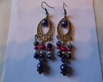 Earrings dangling height 8cm