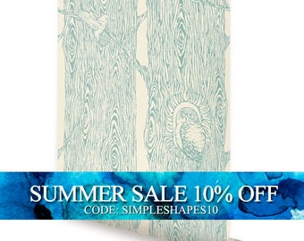Forest Mint Peel & Stick Fabric Wallpaper Repositionable