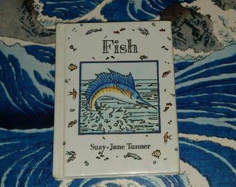 Rare Vintage MINIATURE FISH BOOK 90s Oceana Sea Life Picture Book Mini Childrens  Book Tiny Collectible Seahorse Sharks Marine Ephemera Gift