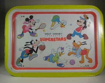 1960's Vintage Walt Disney TV Lap and Bed Tray Mickey Mouse  & Friends Superstars