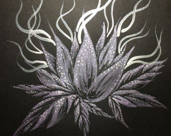 Original Bud Sketch - Metallic Purple