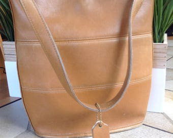 Coach All Leather Tribeca Hobo 9083 Tote Bag USA Tan/ Brown Near Vintage