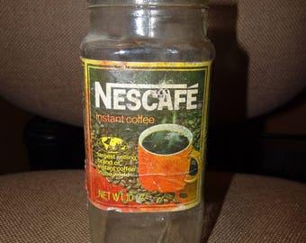 Vintage 10 0z. Nescafe Coffee Jar
