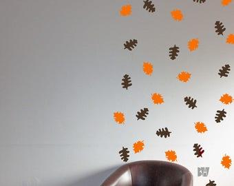 Leaf Wall Decor. Autumn Decals. Wall Decor. Leaf Wall Decals. Livingroom wall decal. Wall sticker. Home decor decals.