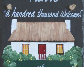 Personalized Irish Cottage Slate