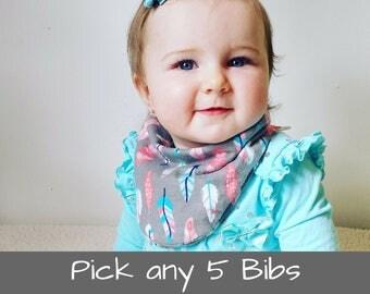 Baby Shower Gift Girl Baby Bandana Bib Baby Shower Gift Baby Bibs Baby Gift Drool Bibs Dribble Bibs Bandana Baby Bib Bandana Bib Set