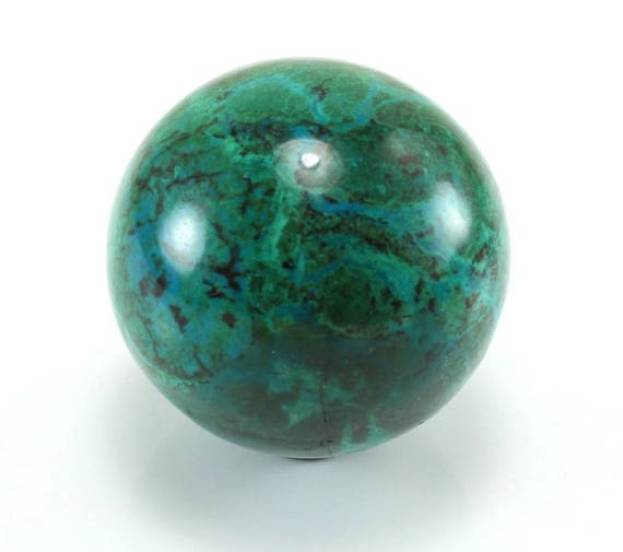 Chrysocolla Malachite Sphere, M-1379
