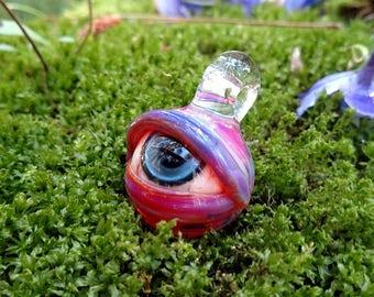 Bloodshot Eye Glass Pendant