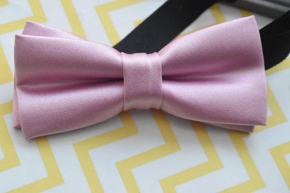 Kids Dusky Pink Satin Bowtie with Grey Suspenders / Braces  for Baby, Toddlers and Boys - Wedding / Christening / Cake Smash /Birthday