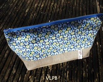Kit XL toiletry linen and cotton blue bubbles