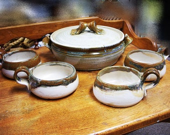 ARTISAN STONEWARE Chili Bowl Set