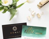 MONAT Business Cards Emerald - DIGITAL FILE only