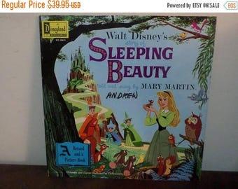 Save 30% Today Vintage 1958 Vinyl LP Children's Record Walt Disney's Story of Sleeping Beauty Near Mint Condition 13355