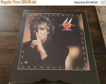 Save 25% Now Vintage Custom Framed Laser Disc Movie Vagabond Heart Tour Rod Stewart Movie Poster Wall Art Man Cave