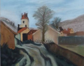 Corsican village in pastels wall Decor