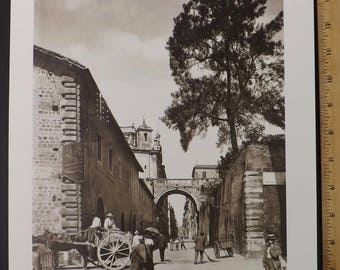 collectible art photo, black white photo, archival photo print, Rome Italy photo, historic Italy photo, Rome architecture, 1910 Italy photo