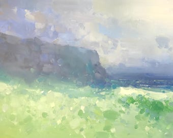South Bay, Seascape, Oil Painting, Original artwork, large size painting, Impressionism, One of a kind