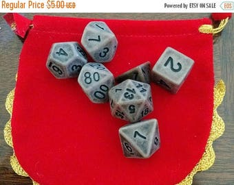 Retrocon Sale - Dustbowl Brown - 7 Die Polyhedral Set with Pouch
