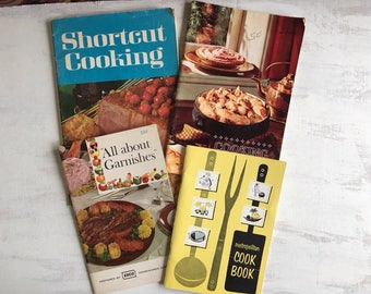 A Collection of 4 Old Recipe Booklets from 1966-70